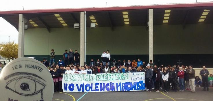 Día de justas reivindicaciones en el IES Huarte