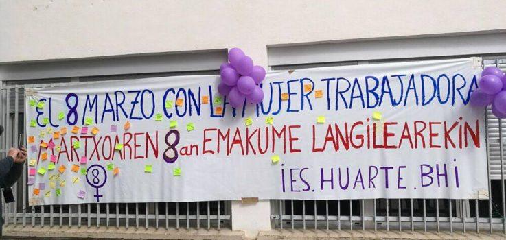 El IES Huarte el 8 de marzo