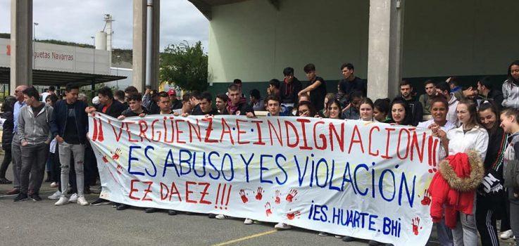 El IES Huarte se unió a las protestas